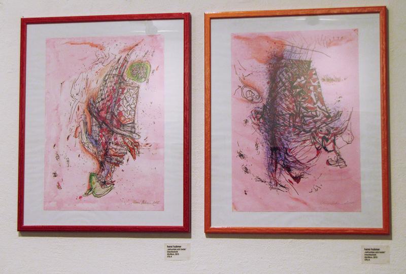 Hani Hubmer 2015: BEFRUCHTEN SICH BEIDE, 2015 42x30cm, Mischtechnik Waren in der Ausstellung IM TUN SEIN, Amerlinghaus, Wien Juni 2015